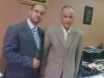 أ عبد الرحمن رشاد وأ رأفت حمدونة فى مقر الاذاعة والتلفزيون بالقاهرة