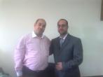 أ رافت حمدونة وأمصطفى الحسينى مدير عام صوت فلسطين من القاهرة