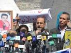 أ رأفت حمدونة فى اعتصام تضامنى مع الأسرى